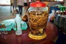 Snake wine! What does not kill you....