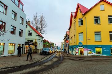 Streets of downtown Reykjavik