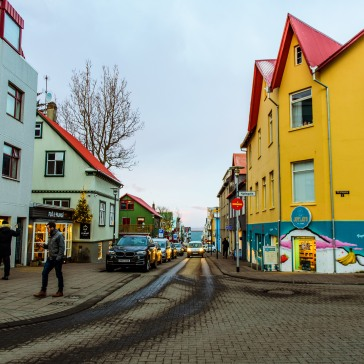 Streets of downtown Reykjavik